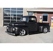 1950 Ford F 100 Matte Black Custom Hot Rod Rat