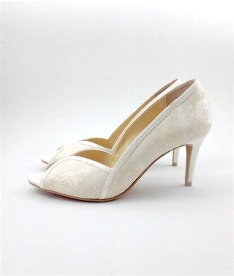 Wedding Shoes With Lace by Ivory Lace Wedding Shoes Ivory Lace Bridal Shoes White