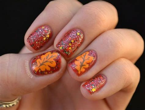 easy nail art leaf 100 amazing and easy nail designs