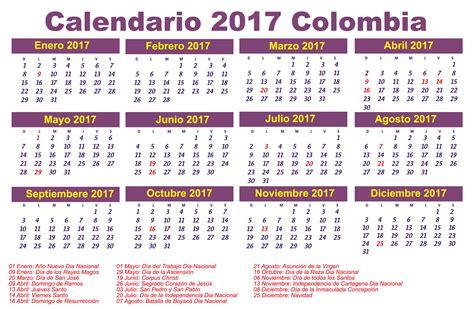 Calendario Días Festivos 2017 Calendario 2017 Colombia Festivos Newspictures Xyz