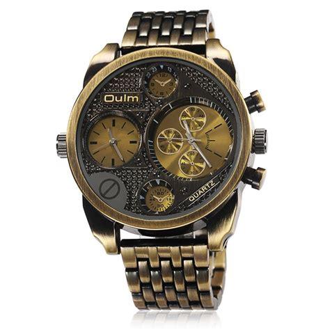 oulm luxury brand steel golden big size
