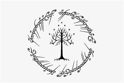 elf lotr tree symbol pictures to pin on pinterest pinsdaddy