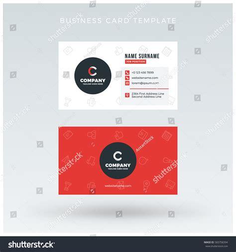 business card and letterhead vector doublesided business card template vector stock vector