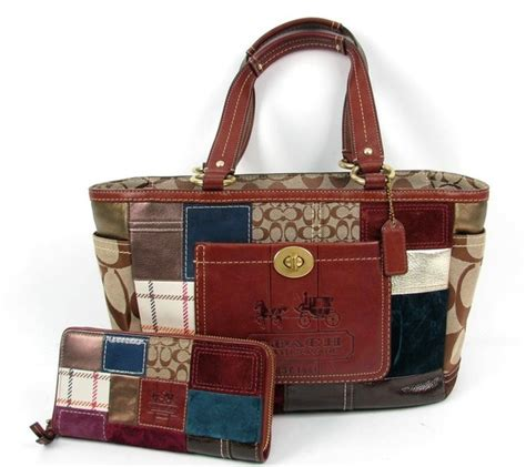 Coach Patchwork Handbag - coach patchwork whiskey leather gallery tote