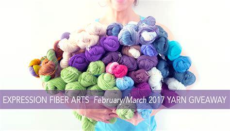 Free Yarn Giveaway 2017 - expression fiber arts a positive twist on yarn february march 2017 huge yarn