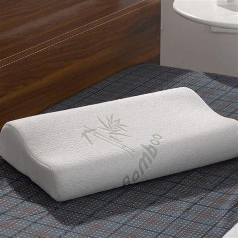 Firm Contour Pillow by Contour Memory Foam Pillow Bamboo Fiber Luxury Firm