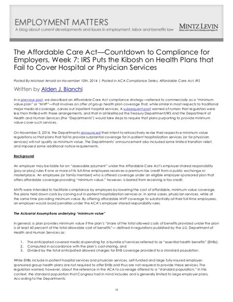 Phs Act Section 2711 by Aca Countdown To Compliance
