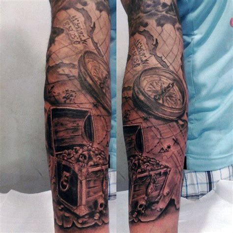 pirate sleeve tattoo designs 196 best images about maritim tattoos on