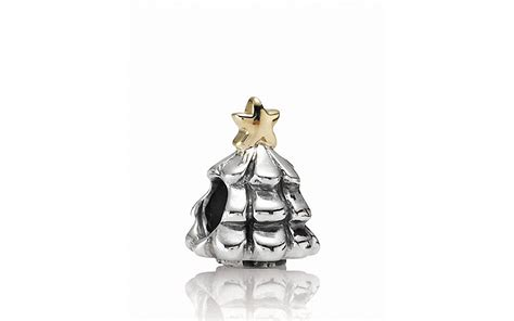 pandora charm sterling silver 14k gold christmas tree