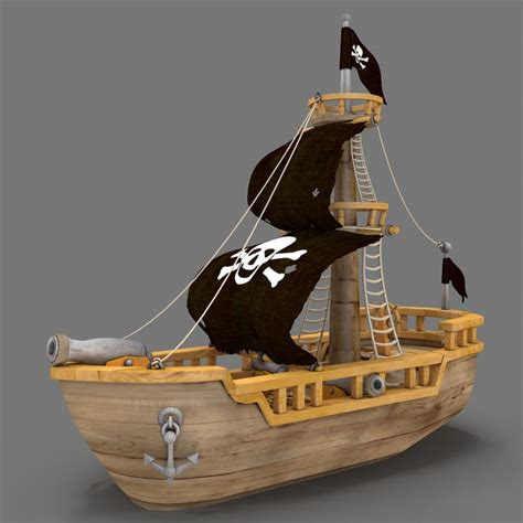 cartoon boat 3d model cartoon pirate ship 3d max