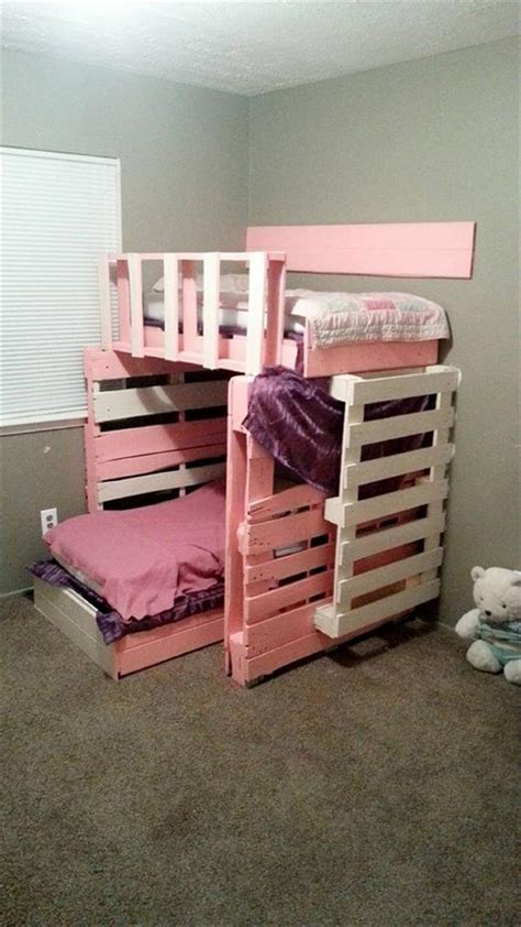pallet bunk beds pallet furniture 10 ideas to reuse old pallets 101 pallets
