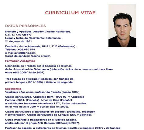 Modelo Curriculum Vitae Veterinario Como Hacer Un Curriculum Vitae Formato De Como Hacer Un Curriculum