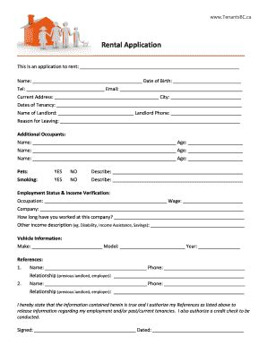 printable rental agreement bc bill of sale form iowa lease application templates