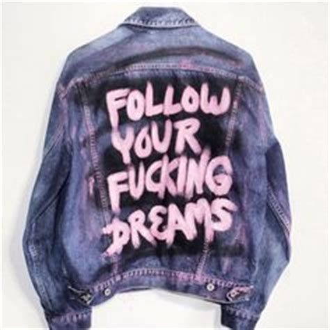 Jaket Sweater Hoodie Volvo Yomerch diy denim jacket with quote in paint i the idea of this make stop and wanna read