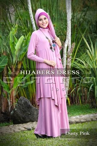 Gamis Andini Fashion 2 dress hijaber dusty pink baju muslim gamis modern
