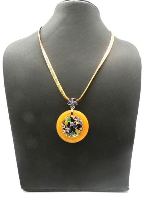awesome looking aqua bird design buy looking beautiful meenakari bird flower pendant