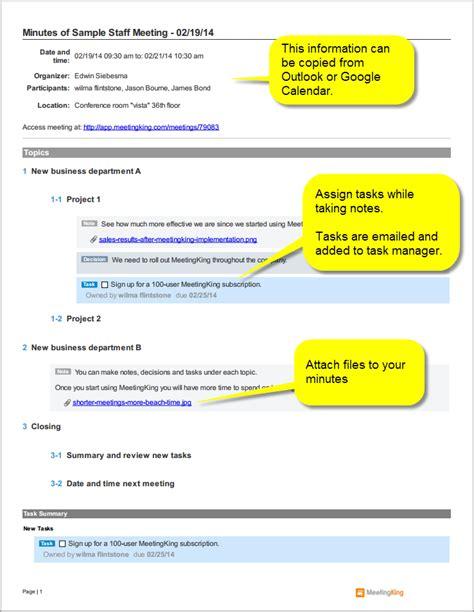 staff meeting minutes template sle staff meeting minutes template