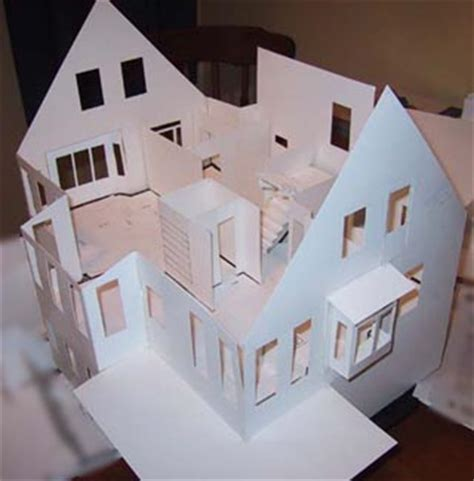How To Make A House Out Of Construction Paper - building architectural models 3d house models