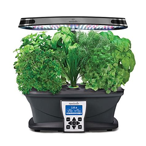 led indoor garden aerogarden ultra led with gourmet herb seed pod kit for