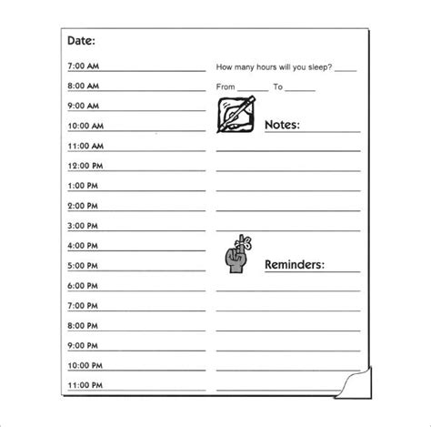 daily schedule printable download hourly schedule template 35 free word excel pdf
