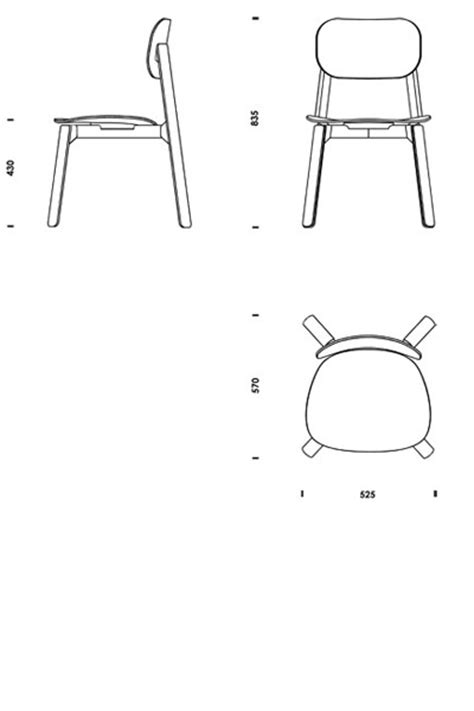 stuhl 2d chair plan cad plans free pdf