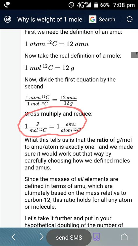 Top Mol 1 1 mole of substance is equal to atomic molecular mass in grams chemistry stack exchange