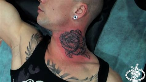throat tattoos 57 realistic roses neck tattoos