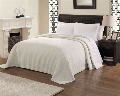 Country French White Oversized Bedspread Coverlet