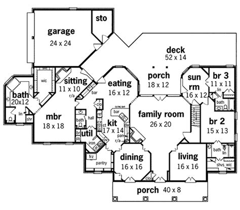 large one story house plans whispering manor one story home plan 020s 0015 house plans and more