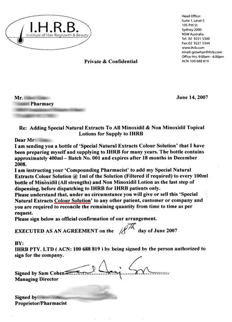 Contract Manufacturing Letter Ihrb S Most Secret Files Found Exposing The Alleged Scam By Ihrb And Sam Cohen