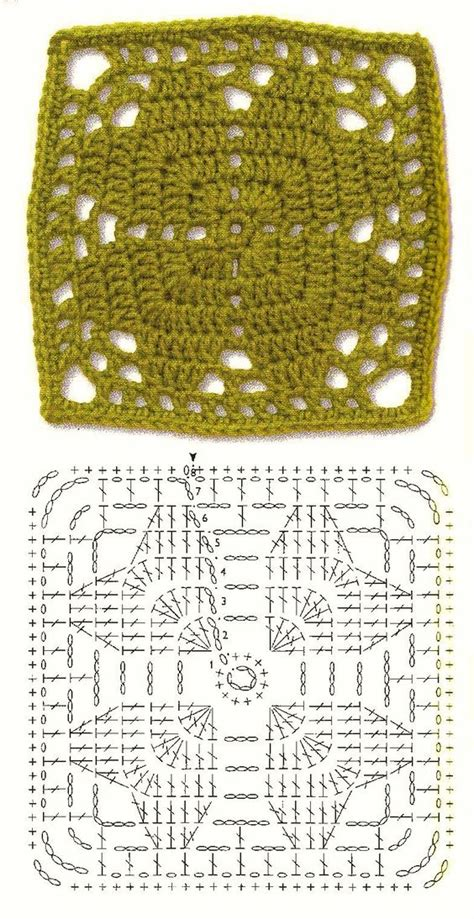 leaf pattern square granny squares squares and crochet on pinterest