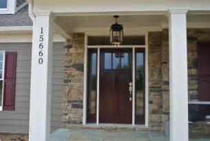 Craftsman bungalow front door with custom craftsman front