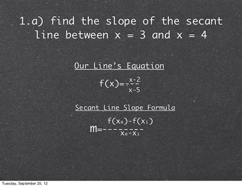 slope of secant line calculus ab slope of secant and tangent lines