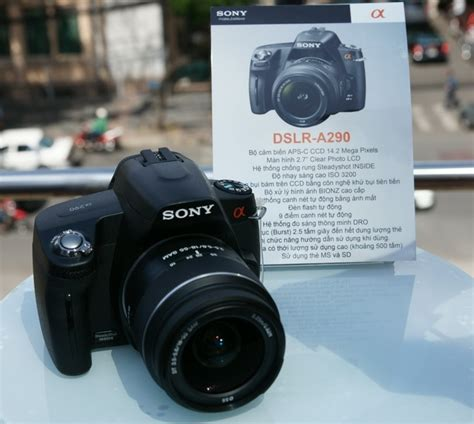 Kamera Dslr Sony A290 Kit 18 55mm sony alpha a290 entry level dslr outed slashgear
