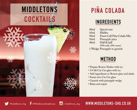 malibu pina colada mix recipe pi 241 a colada recipe middletons