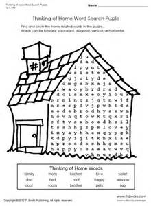 home crossword thinking of home word search puzzle