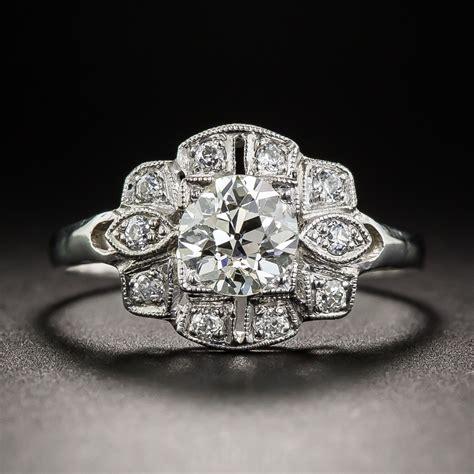 80 carat vintage engagement ring
