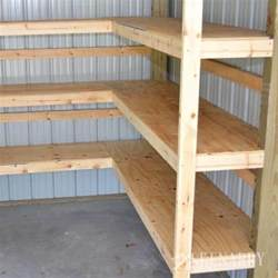 regale abstellraum diy corner shelves for garage or pole barn storage