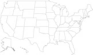 A Outline Of The United States by Geography Outline Maps United States