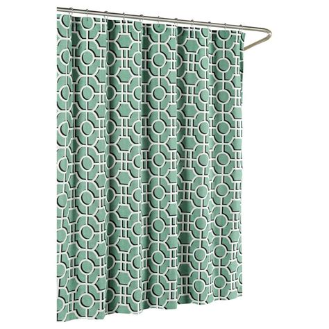 hip shower curtains famous home fashions hip squares blue shower curtain