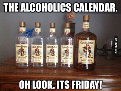 Captain Morgan Meme - the captain morgan week calendar shitty pinterest