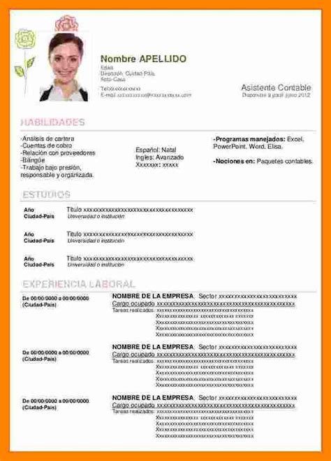 Www Modelo Curriculum Vitae 4 Curriculum Modelo Word Resume Sections