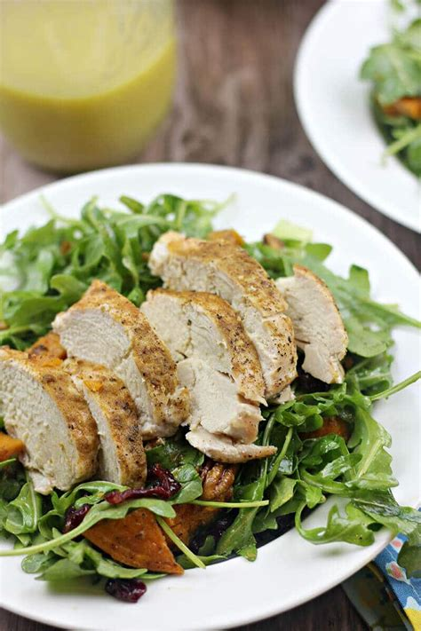 roast chicken with bread arugula salad from make it ahead by ina arugula salad with roasted sweet potato chicken and pecans