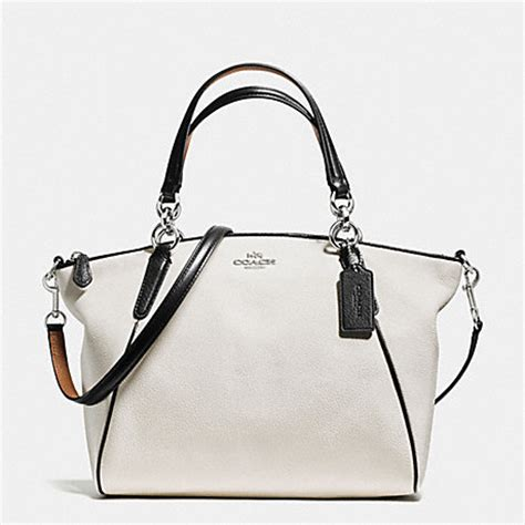 Coach Kelsey Small F56127 Metallic Pebble Leather Bronze coach f57486 small kelsey satchel with contrast trim in pebble leather handbags coach