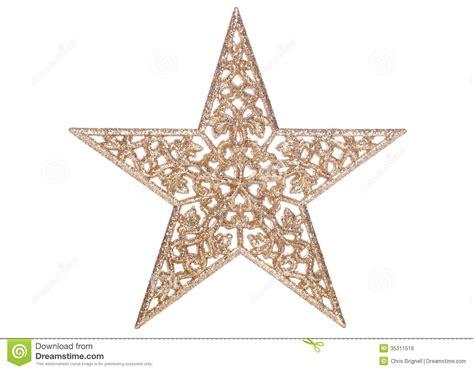 gold star christmas decoration stock photo image 35311516