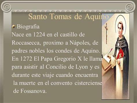 biografia santo tomas de aquino santo tomas de aquino authorstream