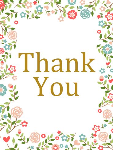 thank you flower card birthday greeting cards by davia