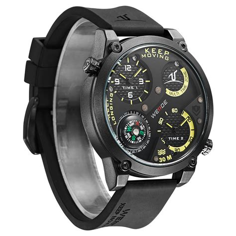 Weide Universe Series Dual Time 30m Water Resistance Limited 1 weide universe series dual time zone compass 30m water resistance uv1505 black yellow