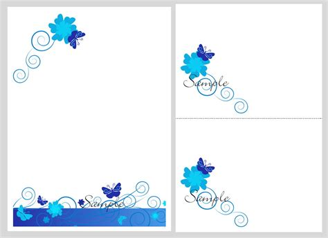 Lovely Butterfly Wedding Invitation Blank Template 10 Awesome Invitation Awesome Invitation Blank Invitation Cards Templates Blue