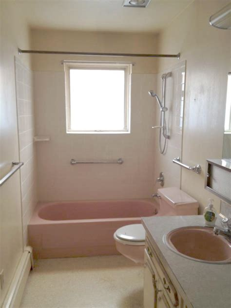 Bathroom Makeovers Inexpensive A Budget Bathroom Makeover From Pink Toilets To Pops Of